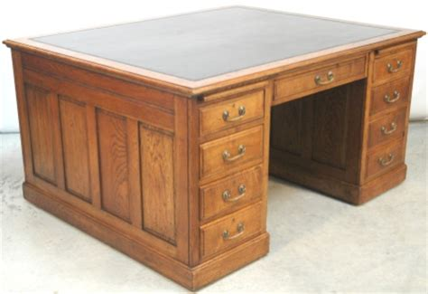 Partner Drawer by Antique Oak Partners Desk Antique Furniture