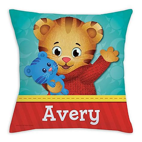 daniel tiger bedding daniel tiger square throw pillow in red bed bath beyond
