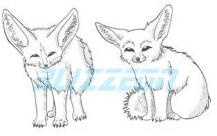 Fox Drawing Outline by Fennec Fox Outlines By Blizzeon On Deviantart