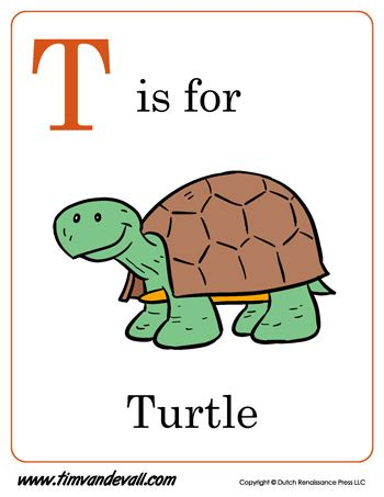 turtle letter coloring pdf
