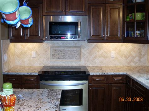 herringbone kitchen backsplash herringbone travertine backsplash