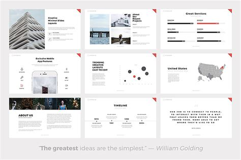 hybrid layout ppt 17 clean powerpoint templates for simple modern presentations