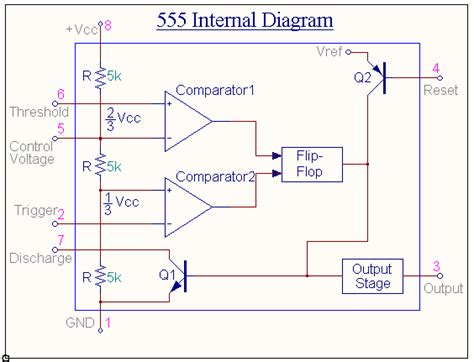 capacitor across oscillator astable multivibrator using 555