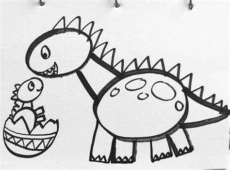drawing images for kids tutorial how to draw a dinosaur from jurassic park film