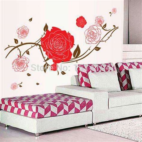 Safiradecal Wallsticker Sticker Dinding Dekorasi Rumah Flower 6 jual wall sticker untuk kamar stiker dinding murah