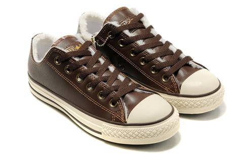 Converse All Brown Series converse high tops leather black mens and womens converse