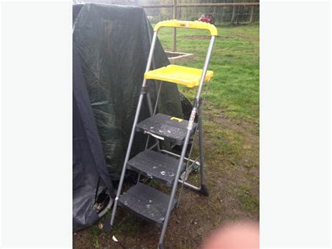 Cosco 3 Step Stool With Tray by Cosco 3 Step Work Deck Ladder 37 00 Duncan Cowichan Mobile