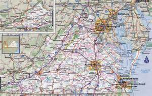 map with cities and roads large detailed roads and highways map of virginia state