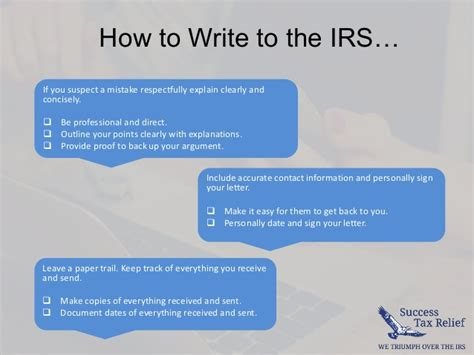 Explanation Letter To Irs How To Write A Letter Of Explanation To The Irs From Success Tax R