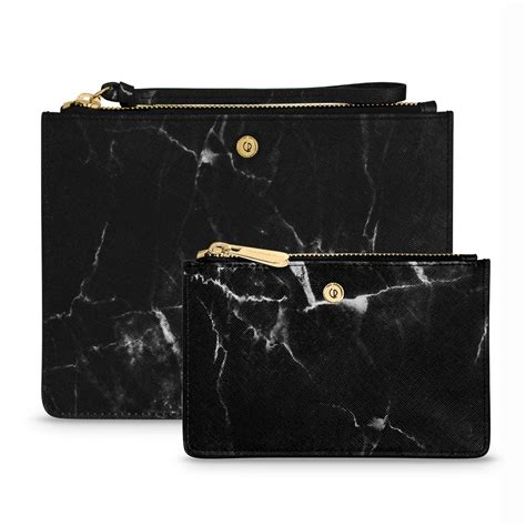 Black Marble Clutch small leather clutch phone and coin purse black marble christian paul