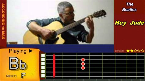 tutorial guitar beatles hey jude chitarra tutorial guitar accordi the beatles