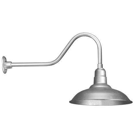 Galvanized Outdoor Light Illumine 1 Light Outdoor Galvanized Angled Arm Wall Sconce Cli 452 The Home Depot