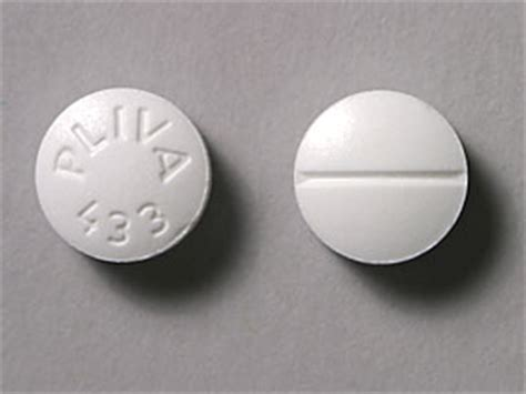pliva 433 pill images (white / round)