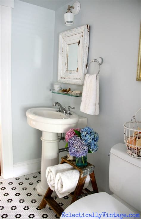 vintage bathrooms let s face the music bathroom storage ideas love this old ladder