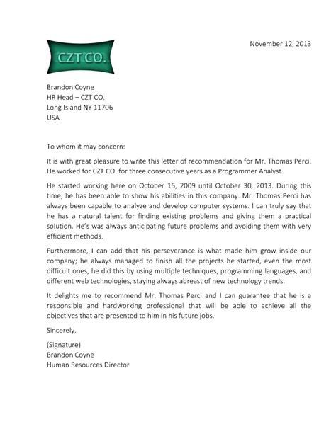 sample recommendation letter for student sample letter of