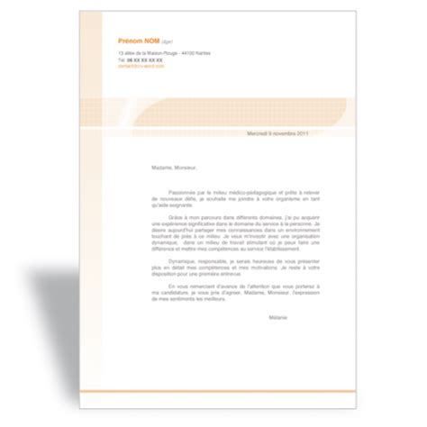 Les Modèles De Lettre De Motivation Cover Letter Exle Mod 232 Le De Lettre De Motivation Word