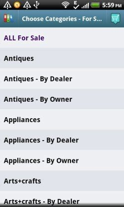 craigslist mobile app for android android craigslist mobile app