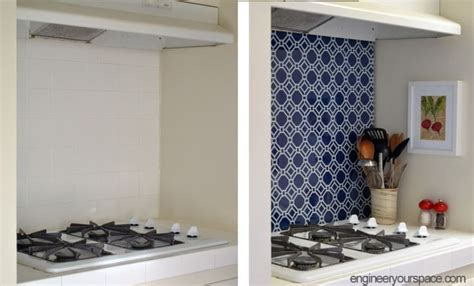 diy temporary kitchen backsplash diy