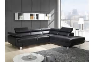 canap 233 design d angle studio cuir pu noir canap 233 s d