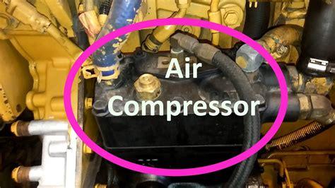 change  cat air compressor remove  install