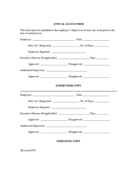 best photos of leave request form template employee