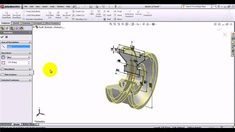 tutorial solidworks 2013 youtube solidworks 2013 tutorial creating revolved features youtube