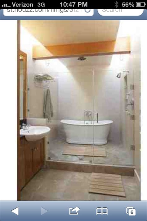 freestanding tub in shower bath design