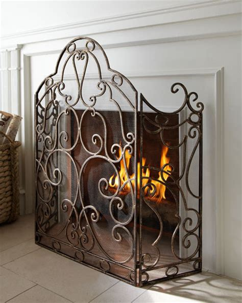 Gold Fireplace Screens by Gold Scroll Fireplace Screen