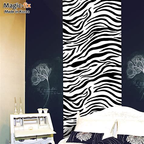 free shipping wallpaper wallpaper bedroom wall furniture stickers sticky notes zebra print