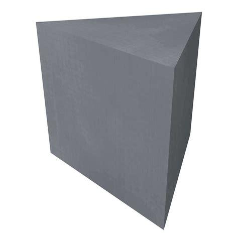 wedi full foam triangular corner shower seat 22 5 quot x 22 5 quot x 32 quot contractors direct