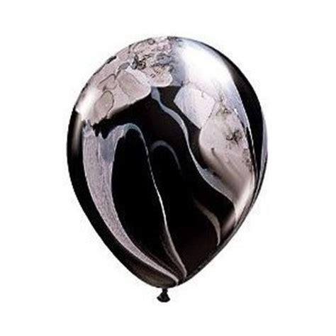 11 Black Agate Balloon Balon Motif black marble agate qualatex balloons 11 inch