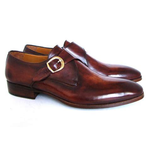 paul parkman monk dress shoes brown camel