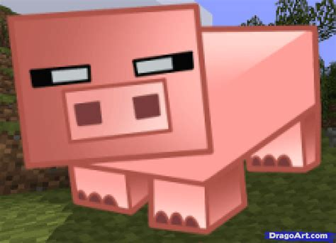 how to a pig how to draw a minecraft pig step by step characters pop culture free