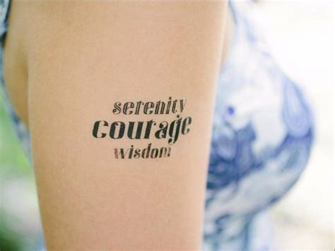 serenity courage wisdom tattoo tatto wisdom mytat com