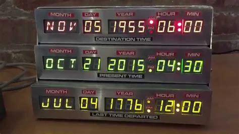 diy bttf time circuits alarm clock youtube