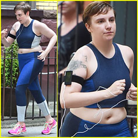 lena dunham running lena dunham gets pumped for the launch of lenny letter