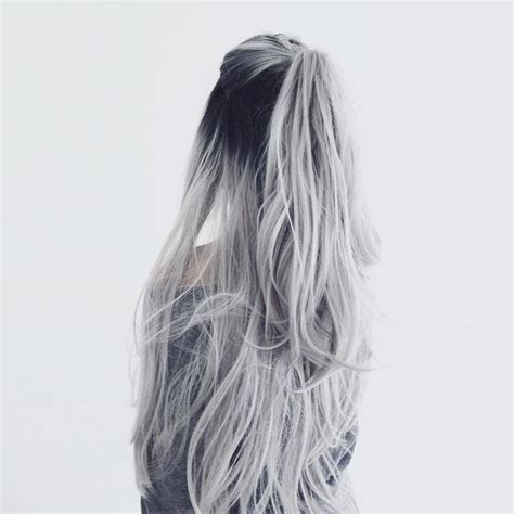 ombre half up half down hairstyles white silver hair ombre hair color curls half up half