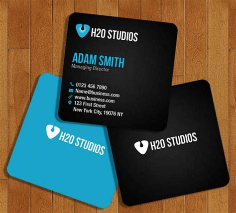 Top 18 Free Business Card Psd Mockup Templates In 2018 Colorlib Square Business Card Template Free