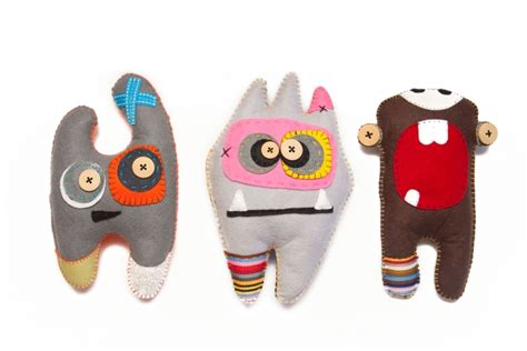 Handmade Monsters - handmade felt monsters abundance designs