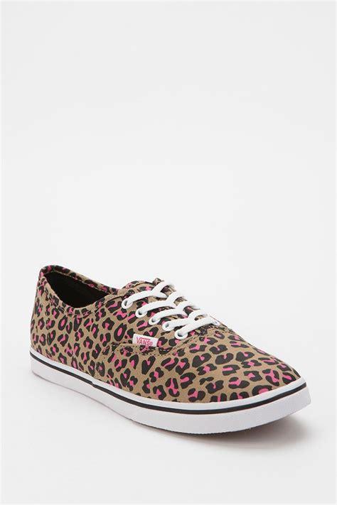 leopard print canvas sneakers vans authentic leopard print canvas sneaker