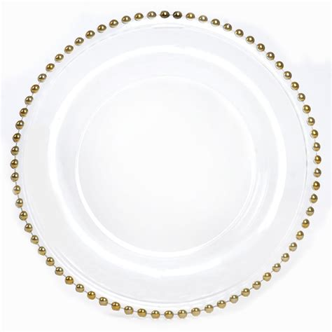 gold beaded glass charger plates glass gold beaded charger plate box of 8 lionsdeal