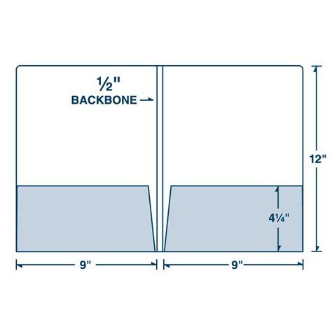 08 02 two pocket presentation folder with 1 2 quot backbone