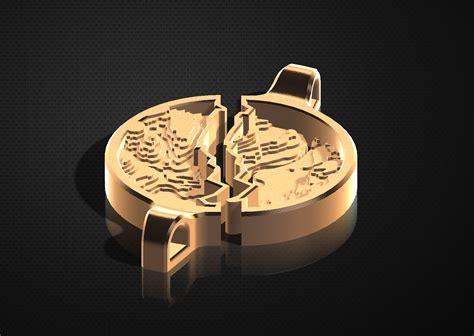 3d printed bronze pendant creates topographical link