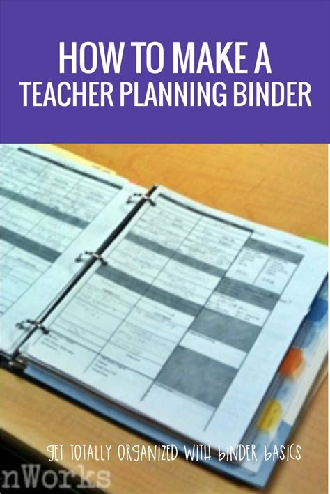 printable lesson plan binder how to make a teacher planning binder binder basics