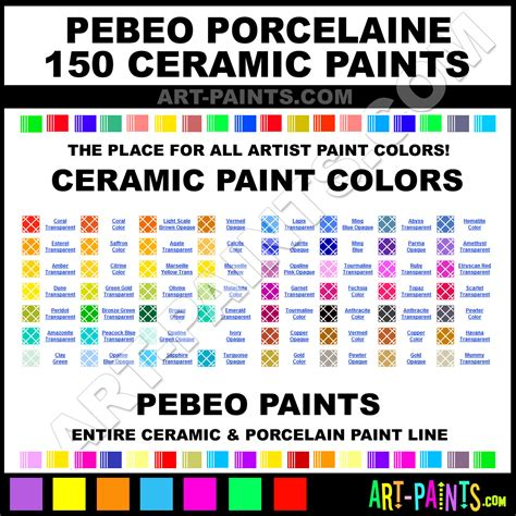 pebeo porcelaine 150 ceramic porcelain paint colors pebeo porcelaine 150 paint colors