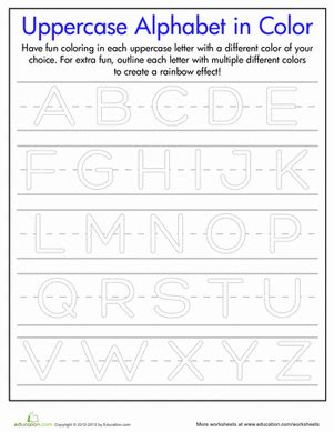 printable uppercase letters worksheets rainbow letters practice writing uppercase letters