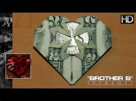 origami guitar tutorial origami dollar bill heart quarter youtube money