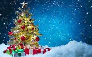 fondo de pantalla arbol de navidad nieve hd