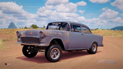55 Chevy Bel Air Gasser Hitam forza horizon 3 1955 chevy bel air gasser