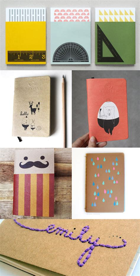 Handmade Notebook Ideas - best back to school notebooks handmade journals etsy